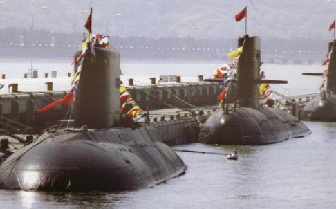 Tàu ngầm hạt nhân Type 091 và 092 của Trung Quốc. Ảnh: SCMP