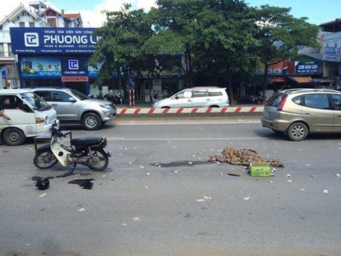 Hiện trường vụ tai nạn khiến người đàn ông thiệt mạng