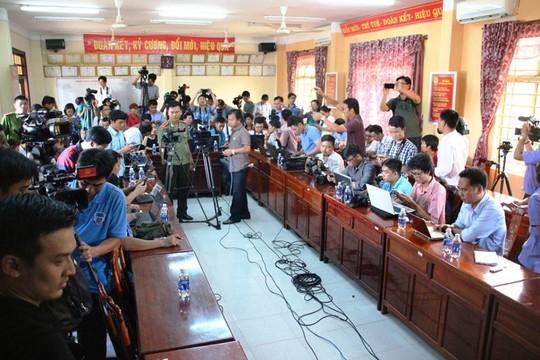 Cơ quan công an họp báo về vụ án