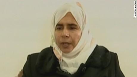 Sajida al-Rishawi bị kết án tử hình vào năm 2006. Ảnh: Jordan TV