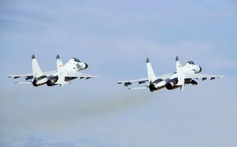Fighter jets from the Peoples Liberation Army take to the skies. Photo: SCMP Photos