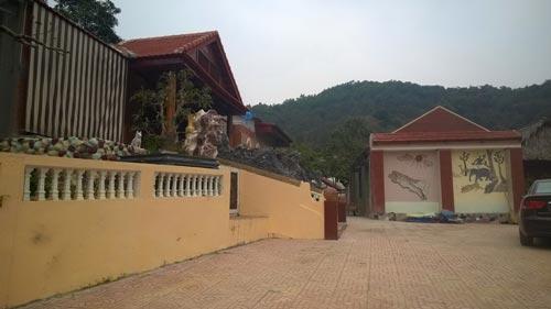 Trang trại của Bí thư Huyện ủy Thạch Thành, tỉnh Thanh Hóa - nơi nuôi 12 con dê hỗ trợ người nghèo Ảnh: TUẤN MINH