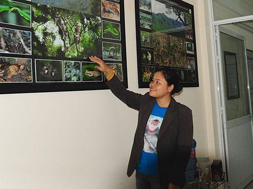 Lê Thị Trang đam mê nghiên cứu và bảo tồn voọc chà vá chân nâu