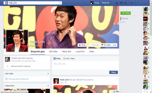 Nghệ sĩ Hoài Linh đã từng là nạn nhân của nhiều trang Fan Page giả mạo