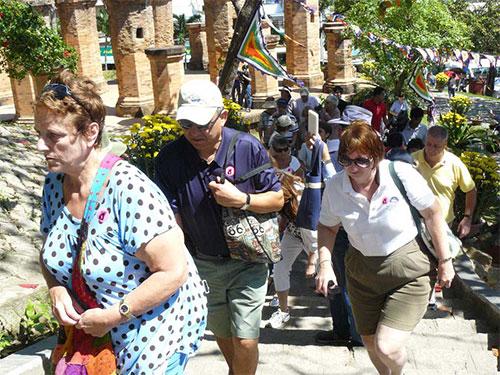 Du khách Nga đến Nha Trang đang giảm mạnh Ảnh: KỲ NAM