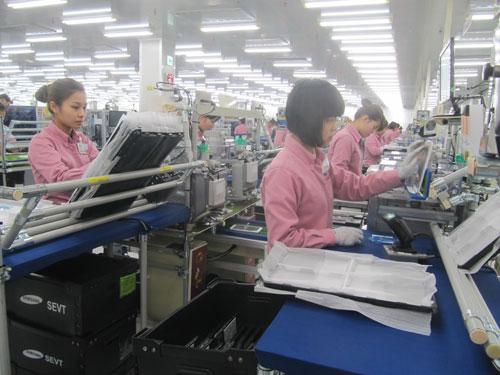 Samsung hiện là nhà đầu tư lớn nhất tại Việt Nam. Trong ảnh: Nhà máy Samsung ở Thái Nguyên Ảnh: THÁI PHƯƠNG