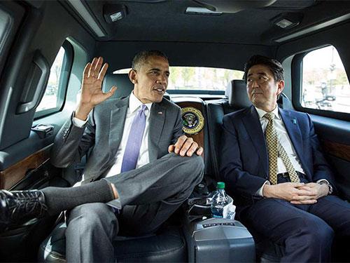 Tổng thống Mỹ Barack Obama và Thủ tướng Nhật Bản Shinzo Abe ở Washington hồi cuối tháng 4-2015. Bế tắc đàm phán Nhật - Mỹ là một trong những nguyên nhân khiến đàm phán TPP bế tắc suốt 18 tháng qua Ảnh: THE WHITE HOUSE