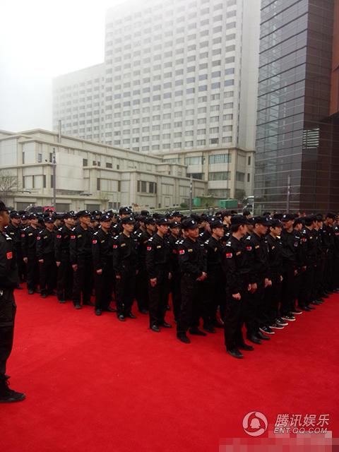 Lực lượng an ninh triển khai trước sự kiện