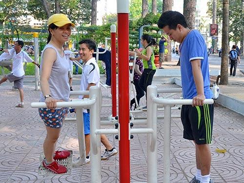Thường xuyên tập thể dục là một cách giảm nguy cơ bị đột quỵ ở những người trẻ tuổiẢnh: TẤN THẠNH