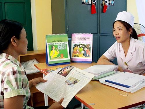 Tư vấn dự phòng tại Trạm Y tế xã Bản Ngoạn, huyện Đại Từ, tỉnh Thái Nguyên