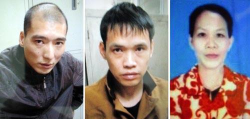 Từ trái qua: Zheng Zhuen, Zheng Ke Xi và Lê Thị Ánh