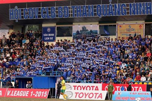 CĐV Than Quảng Ninh góp công lớn vào thành tích của đội Ảnh: HẢI ANH