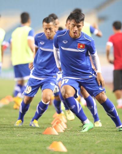 Chơi tốt trong màu áo Than Quảng Ninh, tiền đạo Mạc Hồng Quân nhiều khả năng sẽ được gọi lên tuyển U23 Việt Nam Ảnh: QUANG LIÊM