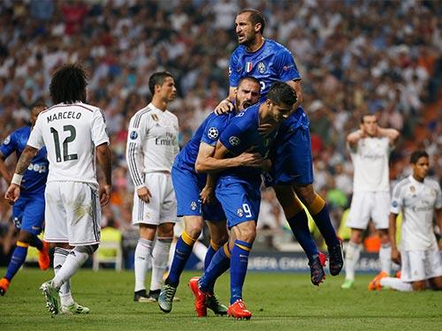 Để tri ân đội bóng cũ, Morata (9) không ăn mừng nhưng điều đó vẫn khiến Real Madrid đau buồn Ảnh: REUTERS