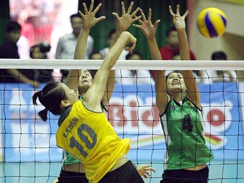 Đội chủ giải VTV Bình Điền Long An (phải) sẽ không dễ thắng trận mở màn