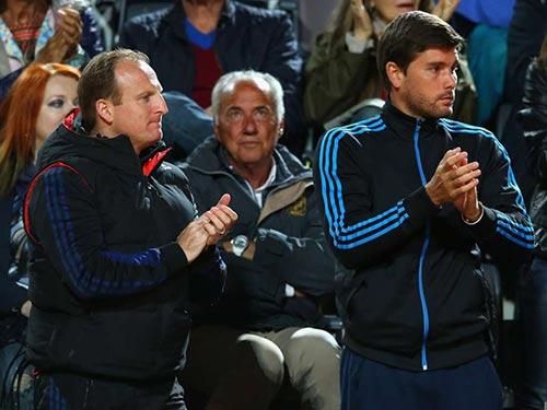 HLV Vallverdu (bìa phải) là nhân vật quan trọng giúp Berdych  chơi hay ở giải năm nay Ảnh: SPORTAL AUSTRALIA