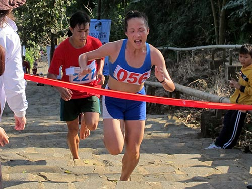 VĐV Hoàng Thị Thanh của Quân Đội giành vị trí nhất nữ hệ đội tuyển