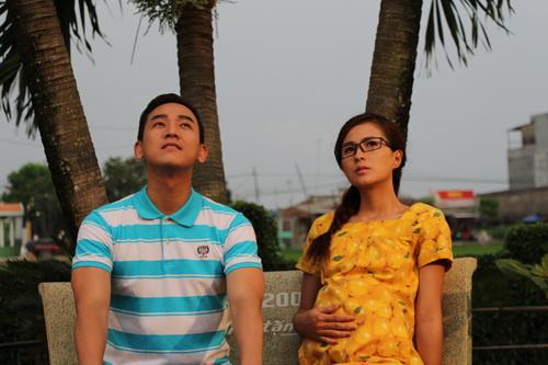 Thùy Trang và Hứa Vĩ Văn trong phim Mặt nạ thiên thần