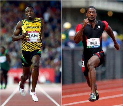 Bolt và Gatlin sẽ là cuộc đối đầu đáng chú ý nhất ở đợt chạy chung kết 100 m Ảnh: REUTERS
