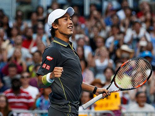 Nishikori đang là niềm tự hào của quần vợt nam châu Á Ảnh: REUTERS