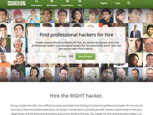 Giao diện trang Hacker's List   Ảnh: The New York Times