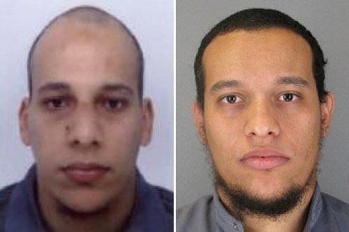 Nghi phạm Chérif Kouachi (trái) và Said Kouachi Ảnh: NYT