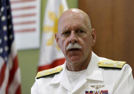 Tư lệnh Hạm đội Thái Bình Dương của Hải quân Mỹ Scott SwiftẢnh: AP