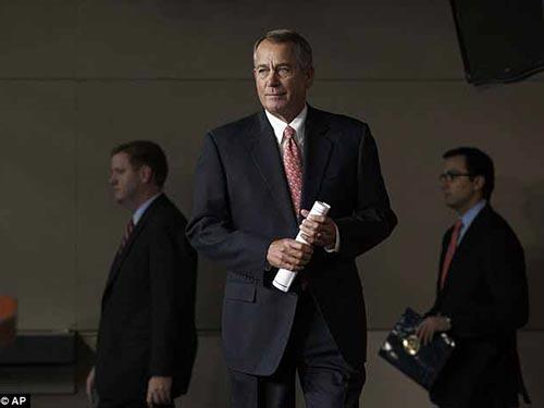 Chủ tịch Hạ viện John Boehner Ảnh: AP