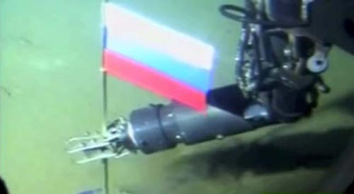Tàu ngầm mini của Nga đã cắm cờ nước này dưới đáy Bắc Cực nhằm khẳng định chủ quyền ở khu vực giàu khoáng sản này từ năm 2007. Ảnh: BARENT OBSERVER