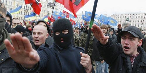 """Tổ chức cực đoan """"Right Sector"""" mới đây đã hăm dọa đốt văn phòng tổng thống Ukraine Ảnh: RU-AN.INFO"""