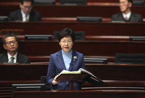 Bà Lâm Trịnh Nguyệt Nga phát biểu chiều ngày 7-1. Ảnh: SCMP