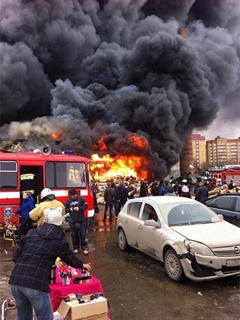 Nguyên nhân vụ hỏa hoạn vẫn đang được điều tra. Ảnh: Twitter