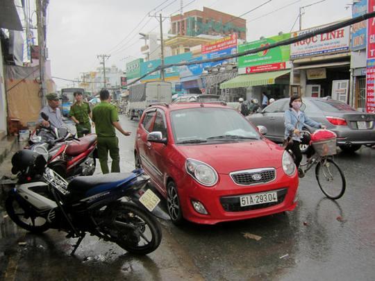 Chiếc ô tô 4 chỗ trong vụ tai nạn