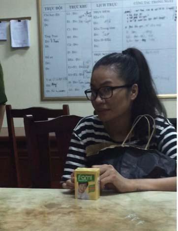 Trần Thị Hương Giang tại cơ quan điều tra.