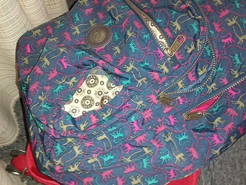 Chiếc túi của chị Lan Anh bị rạch một đường sắc lẹm