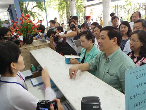 Đoàn công tác của Bộ Y tế kiểm tra công tác khám chữa bệnh BHYT tại Bệnh viện quận Bình Thạnh, TP HCM