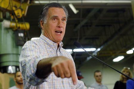 Cựu ứng viên Tổng thống Đảng Cộng hòa Mitt Romney phát biểu tại buổi giới thiệu Thượng nghị sĩ Scott Brown của bang New Hampshire hồi tháng 7-2014. Ảnh: Reuters