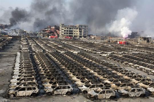 Hiện trường sau vụ nổ Thiên Tân