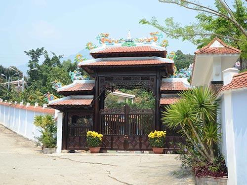 Khu biệt thự xây dựng trái phép của ông Ngô Văn Quang Ảnh: BÍCH VÂN