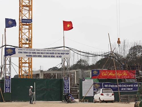 Một công trình nhà ở xã hội ở phường Kiến Hưng, quận Đống Đa, TP Hà Nội