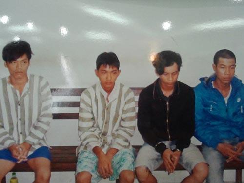 Các đối tượng cướp tài sản trong trại giam Tống Lê Chân (tỉnh Bình Phước) Ảnh: HỒNG THẢO