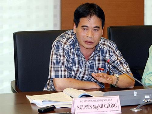 Đại biểu Nguyễn Mạnh Cường đề nghị quy định cụ thể những vấn đề cần phải đưa ra trưng cầu ý dân Ảnh: THẮNG LONG