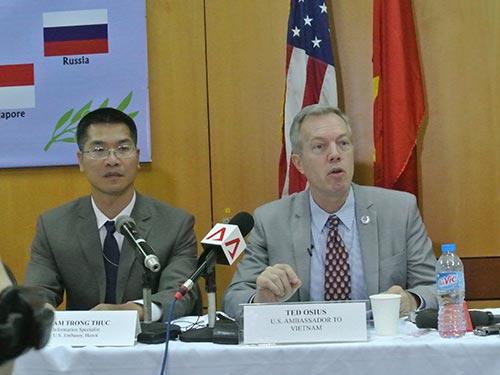 Đại sứ Mỹ tại Việt Nam Ted Osius khẳng định chính sách của Mỹ là tôn trọng sự khác biệt trong hệ thống chính trị của các nước Ảnh: DƯƠNG NGỌC