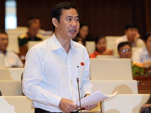 Đại biểu Nguyễn Thái Học cho rằng quy định khi hỏi cung bị can phải ghi âm, ghi hình sẽ khắc phục được việc bức cung, nhục hình Ảnh: THẮNG LONG
