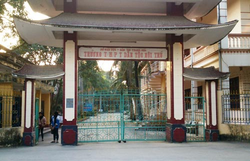 Trường THPT Dân tộc nội trú tỉnh Thanh Hóa - nơi được phát hiện đã chi học bổng vượt số lượng được duyệt