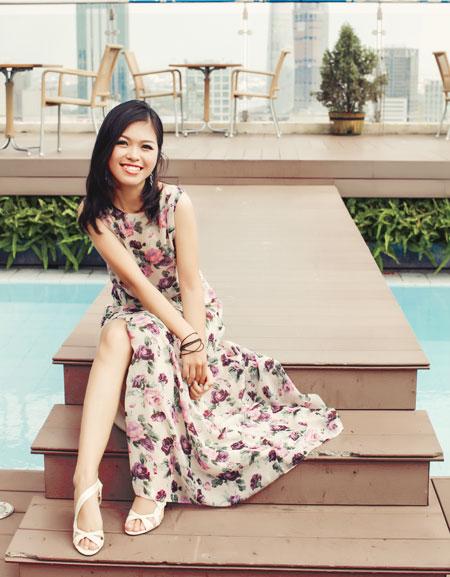 Nữ doanh nhân trẻ thành đạt Trương Thanh Thủy. Ảnh: NVCC