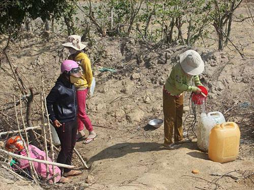 Người dân xã Phước Trung, huyện Bác Ái, tỉnh Ninh Thuận phải dùng nước từ những giếng nhiễm phèn