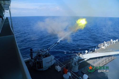 Hạm đội biển Đông của Trung Quốc tập trận vào giữa tháng 7 vừa qua Ảnh: PEOPLE'S DAILY