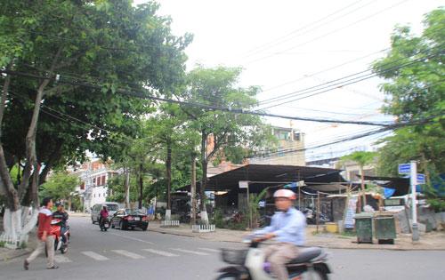 Khu đất ở quận Hải Châu mà chị Trần Thị Yến Minh được UBND TP Đà Nẵng chuyển đổi từ đất ở quận Cẩm Lệ