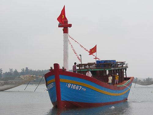 Chiếc tàu đầu tiên tại tỉnh Thừa Thiên - Huế đóng mới từ vốn vay theo Nghị định 67